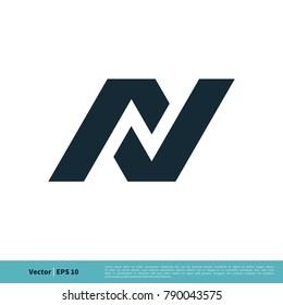 N Letter Icon Vector Logo Template Illustration Design. Vector EPS 10.