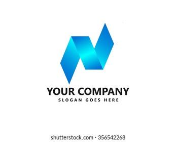 N letter logo icon