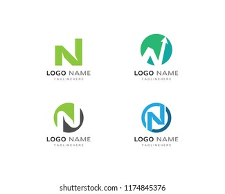 N Letter Logo Template vector icon