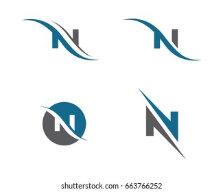 N Letter Logo Template vector icon design