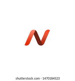 N letter logotype, icon, vector illustration