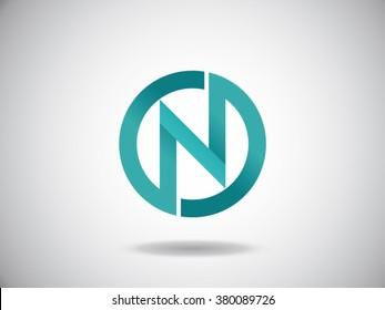 N letters vector logo