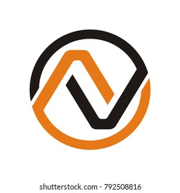 N logo, NV logo design template vector illustration