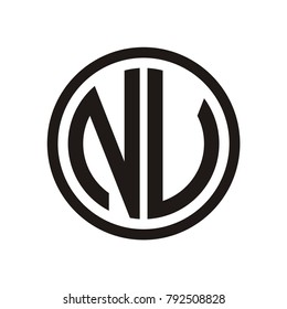 N logo, NV logo design template vector illustration