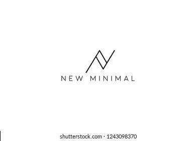 N minimal logo design