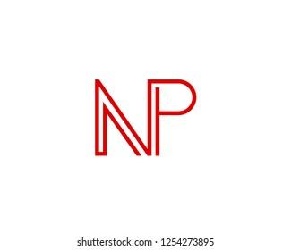 N P Initial logo template vector