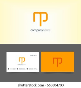 N P joint logo letter design with business card template