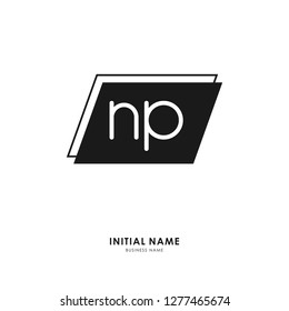 N P NP Initial logo letter with minimalist concept. Vector with scandinavian style logo.