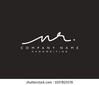 N R Initial handwriting logo