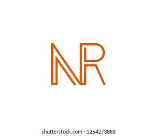 N R Initial logo template vector