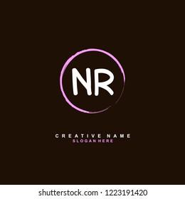 N R NR Initial logo template vector