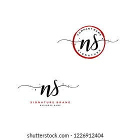 N S NS Initial letter handwriting and  signature logo.
