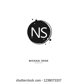 N S NS Initial logo letter with minimalist concept. Vector with scandinavian style logo.