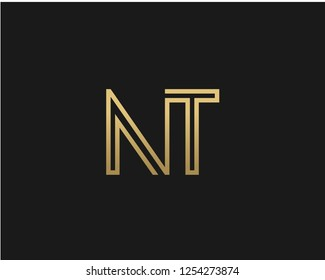 N T Initial logo template vector