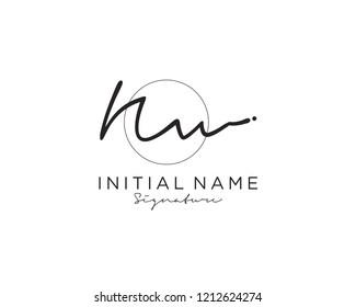 N W Signature initial logo template vector