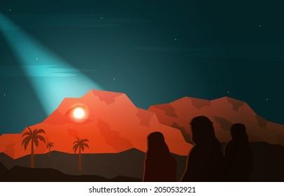 Nabi Prophet Muhammad Messenger Hira Cave Islam History Islamic Illustration