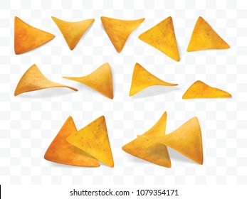 nachos isolated on a white background Vector