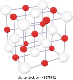NaCl molecule crystal structure