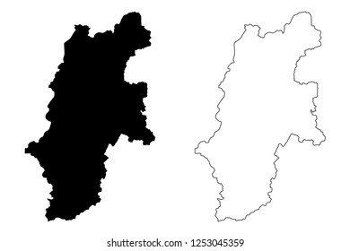 Nagano Prefecture (Administrative divisions of Japan, Prefectures of Japan) map vector illustration, scribble sketch Nagano map