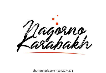 Nagorno Karabakh country typography word text suitable for logo icon design