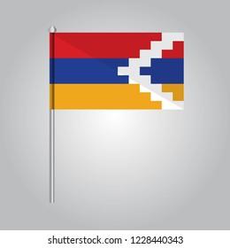 Nagorno Karabakh Icon vector illustration,National flag for country of Nagorno Karabakh isolated, banner vector illustration. Vector illustration eps10.