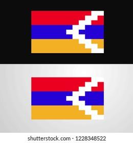 Nagorno Karabakh Republic Flag banner design