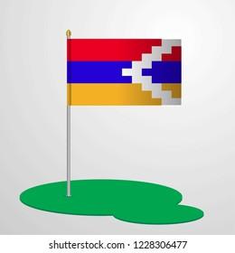Nagorno Karabakh Republic Flag Pole