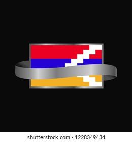 Nagorno Karabakh Republic flag Ribbon banner design