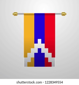 Nagorno Karabakh Republic hanging Flag