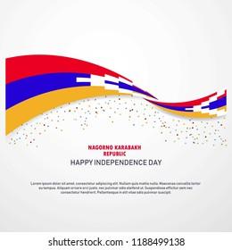 Nagorno Karabakh Republic Happy independence day Background