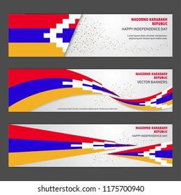 Nagorno Karabakh Republic independence day abstract background design banner and flyer, postcard, landscape, celebration vector illustration