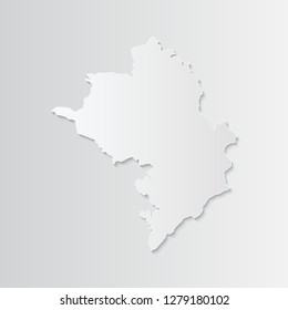 Nagorno Karabakh Republic map paper with shadow isolated on a white background. 3D vector illustration. - Vector