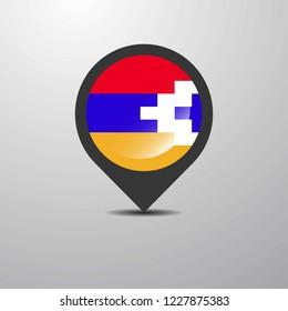 Nagorno Karabakh Republic Map Pin