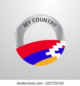 Nagorno Karabakh Republic My Country Flag badge