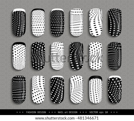 nail art design black and white a set overhead nail labels stickers