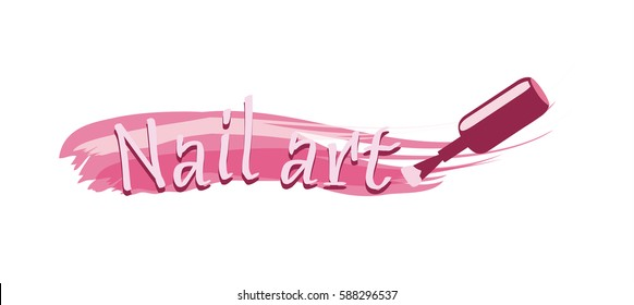 Nail art Logo design