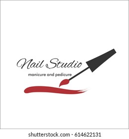 Nail art studio. Template for logo