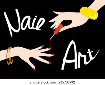 Nail art. Vector illustration