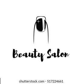 nail bar nailbar polish finger manicure beauty salon. vector illustration