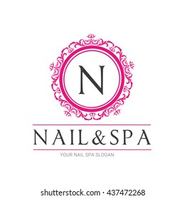 Nail Beauty Spa logo Template, Salon and Cosmetic brand identity.