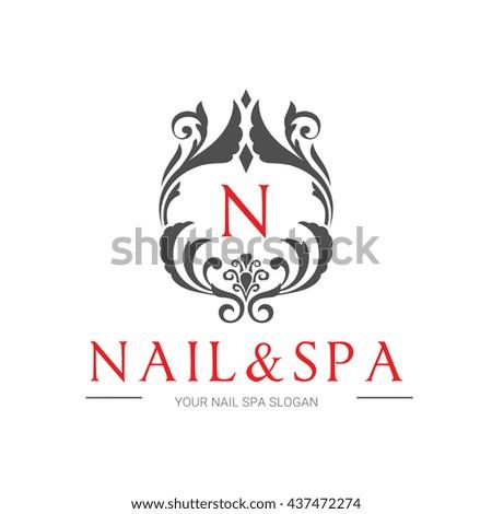 Nail Beauty Spa Logo Template Stock Vector Royalty Free 437472274