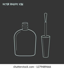 Nail lacquer icon line element. Vector illustration of nail lacquer icon line isolated on clean background for your web mobile app logo design.