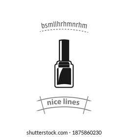 nail polish isolated vector icon. beauty, cosmetics design element. nail polish isolated vector icon. beauty, cosmetics design element. nail polish isolated vector icon. beauty, cosmetics design eleme - Shutterstock ID 1875860230