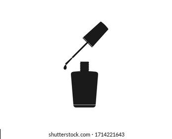 Nail polish, open bottle. Vector illustration, flat design.