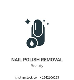 Nail polish removal vector icon on white background. Flat vector nail polish removal icon symbol sign from modern beauty collection for mobile concept and web apps design.