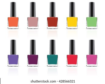 nail polish for your logo mock up vector eps10 Only on a white background It is easy to change the color of nail polish