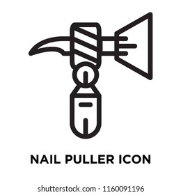 Nail Puller icon vector isolated on white background, Nail Puller transparent sign , line symbol or linear element design in outline style