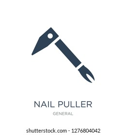 nail puller icon vector on white background, nail puller trendy filled icons from General collection, nail puller vector illustration