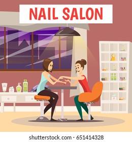 Cartoon Nail Salon Images Stock Photos Vectors Shutterstock