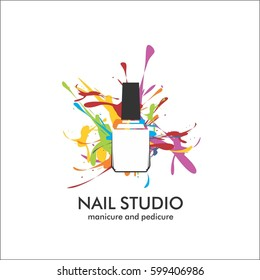 Nail studio. Design template for logo